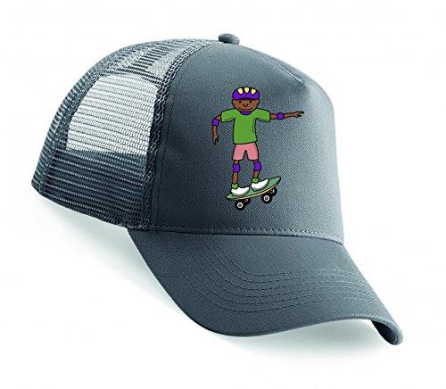 Snapback AFRIKANISCHE- Junge- Kinder- Kind- MÄNNLICH- Skateboard- Skateboarder Unisex Baseballmütze Trucker Mützen Base Caps