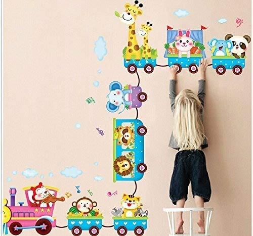 devil home Sticker mural en PVC pour chambre d'enfant motif Petit train de voitures