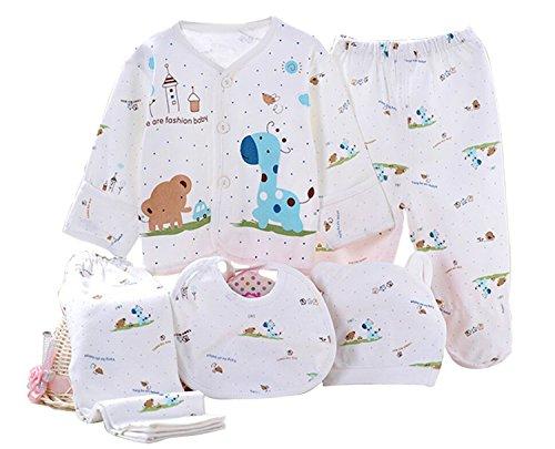 Kris&Ken 3 Colores Bebé 5 Piezas Canastilla Unisex Algodón Ropa Set...