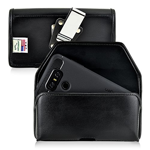 Turtleback Belt Case Made for LG G6 Black Holster Leather Pouch with Heavy...