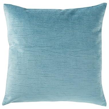 Stone & Beam Striated Velvet/Linen-Look Pillow, 17  x 17 , Laguna