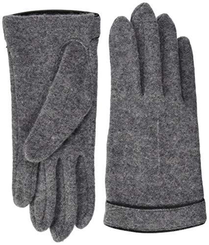 Roeckl Damen Cut & Sewn Leather Piping Handschuhe, Grau (Flanell 070), One Size