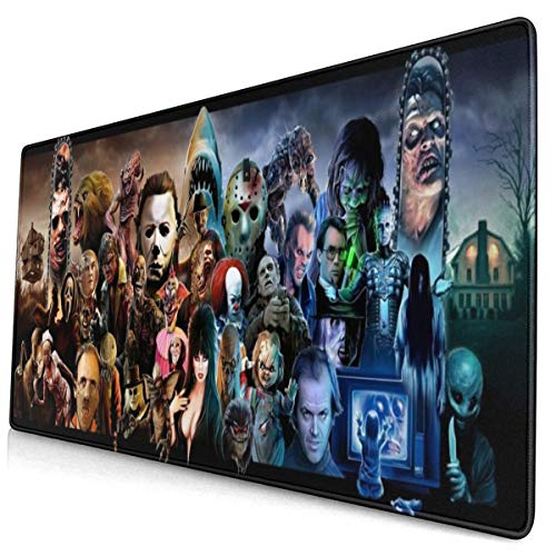 Chucky Horror Halloween Movie Mouse Pad Large Gaming Mouse Pads Mat Extended Size Mousepad for Computer Desktop PC Laptop Keyboard Pad Desk Pad with Anti-Slip Rubber Mat Base