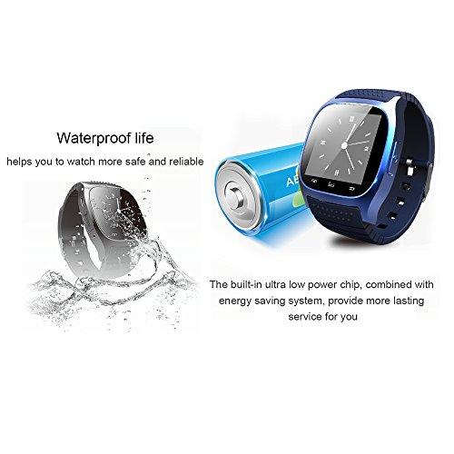 RWATCH Bluetooth Smart Armbanduhr Android & iOS | Blau