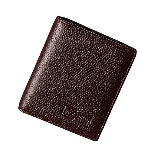 JACK MELON Herren Portemonnaie aus Echt-Leder ohne Münzfach mit RFID Schutz | Classic Slim Wallet (Dunkelbraun)