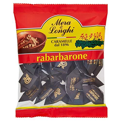 Mera & Longhi Caramelle Quadre al Rabarbaro - 160 g
