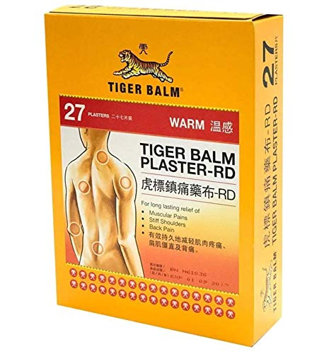Tiger Balm Plaster (Warm) 10cm x 14cm (27 Patches) - for Back and Shoulder Blades (Hong Kong Version) HKP-04625