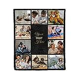 Launchigo Customized Picture/Photo Blanket-Collage Blanket, Family Blanket, Dog Blanket, Memorial Blanket. Customize for Any Occasion. (Custom Photo Blanket (10 Photos)- 07, 60' X 80')