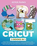 Cricut: 3 Books in 1: Everything You Need to Know to Make Wonderful and Accurate DIY Crafts. Mastering All Machines with Innovative Ideas for New Projects and Start a Profitable Business