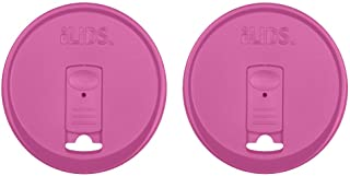 iLIDS Mason Jar Drink Lid, Wide Mouth, Mulberry, Pack of 2