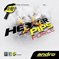 andro(アンドロ) 卓球 ラバー テンション系 表ソフトラバー ヘキサーピップスフォース 112274 ブラック 1.9