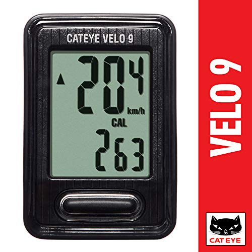 CAT EYE - Velo 9 Wired Bike Computer, Black