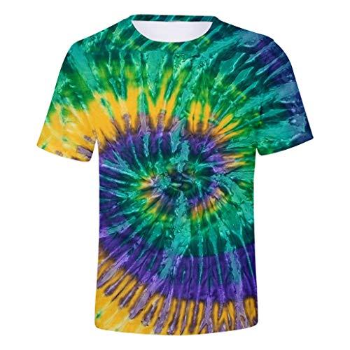 Dasongff Unisex 3D prints zomer-casual korte mouwen T-shirts T-stukken
