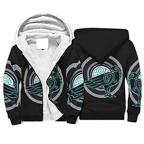 Sudadera con cremallera delantera para hombre, con capucha de forro polar, diseño hip-hop, con cremallera, color blanco, 2 m