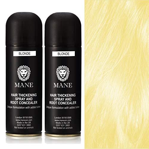 Mane Hair Thickening Spray épaississant/Retouche Racines – 200 ml Blonde) Lot de 2