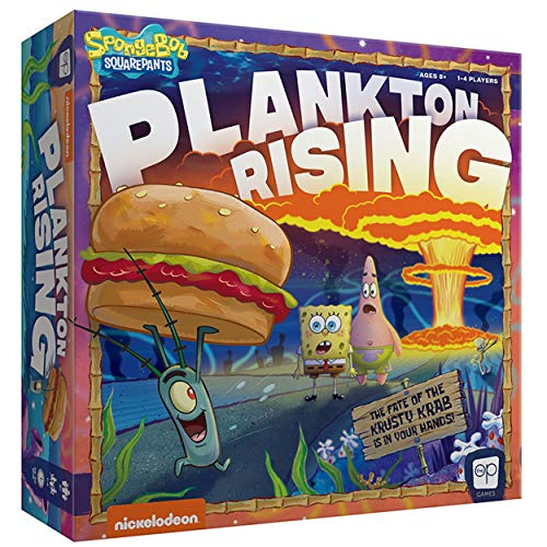 USAOPOLY Spongebob: Plankton Rising Cooperative Dice and Card Game | Featuring Artwork & Characters from Nickelodeon's Spongebob Squarepants Cartoon | Officially Licensed Spongebob Game