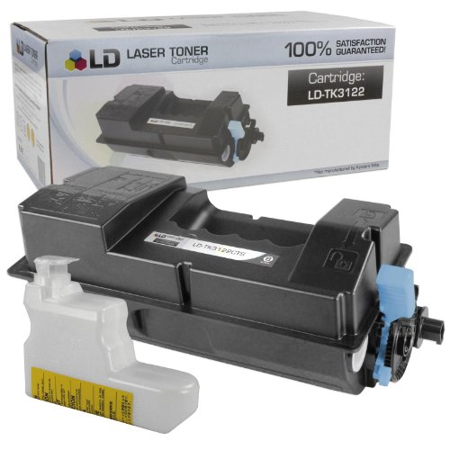 LD Compatible Toner Cartridge Replacement for Kyocera TK-3122 1T02L10US0 (Black, 5-Pack) Photo #3