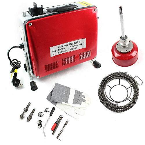 RANZIX 250W Rohrreinigungsmaschine Elektrische Unblocker 20-100mm Elektrisch Drain Cleaner