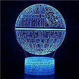 3D USB Luces nocturnas,Lámpara de mesa táctil Luces con control remoto para la decoración del partido para niños niñas niños Presentes de cumpleaños - Patrón de esfera