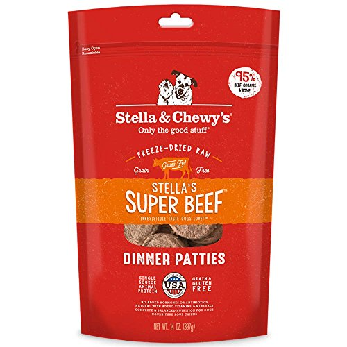 Stella amp Chewy#039s FreezeDried Raw Stella#039s Super Beef Dinner Patties Dog Food 14 oz Bag FreezeDried Raw Dinner Patties