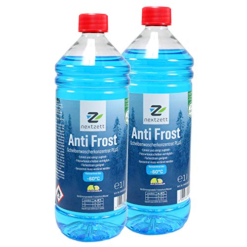 nextzett 9252115 Anti-Frost Winter Windshield Washer Fluid Concentrate 33.8 Ounces, 2 Pack