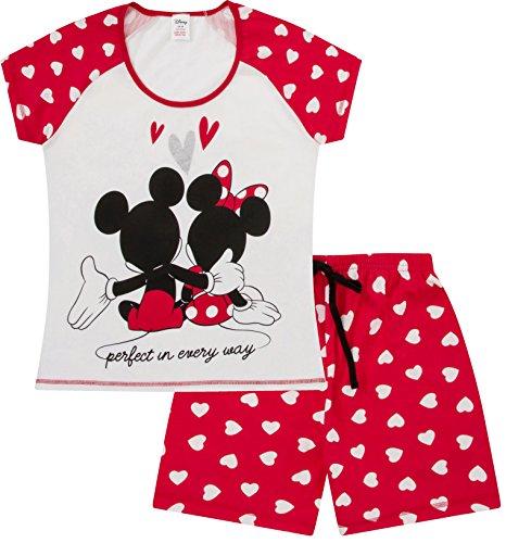 The Pyjama Factory Damen Schlafanzug,  Weiß/Rot, Gr.- 8-10/ 34 EU (Textilien)