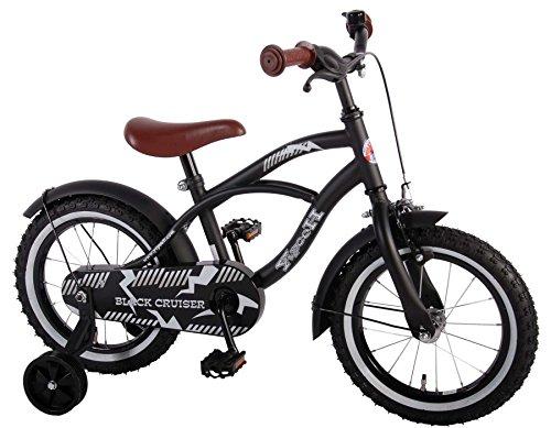 Unbekannt 14 Zoll Kinder Fahrrad Kindefahrrad Jungenfahrrad Mädchenfahrrad Rücktrittbremse Rad Bike Cruiser Matt Schwarz 41401 Yipeeh