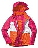 Crivit - Chaqueta de esquí para niña, Otoño-Invierno, Niñas, color Rosa, blanco y naranja., tamaño 158/164