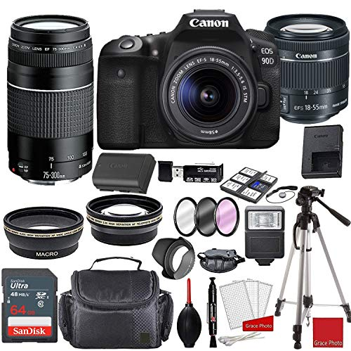 Canon EOS 90D DSLR Camera with EF-S 18-55mm...
