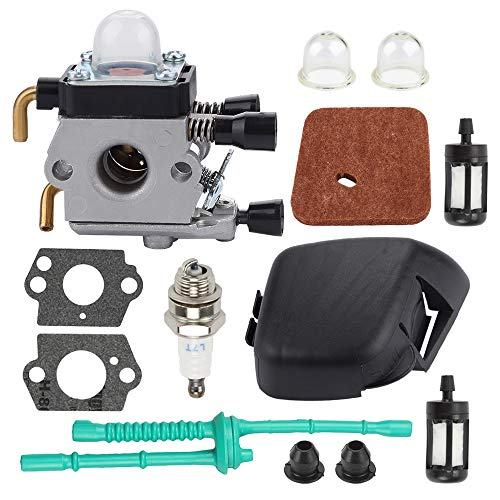 Harbot FS55R Carburetor for Stihl FS38 FS45 FS45C FS46 FS46C FS55 FS55RC FS55C Trimmer Weed Eater Zama C1Q-S97 C1Q-S186 4140 141 0501 Air Filter Cover