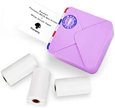 $102 » Phomemo M02S Pocket Printer- Mini Bluetooth Thermal Printer with 3 Rolls White Sticker Paper, Compatible with iOS + Android for Learning Assistance, Study Notes, Journal, Fun, Work, Purple