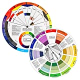 JimKing Creative Color Wheel, Paint Mixing Learning Guide Art Class Teaching Tool for Makeup Blending Board Chart Color Mixed Guide Mix Colours (9.25inch)
