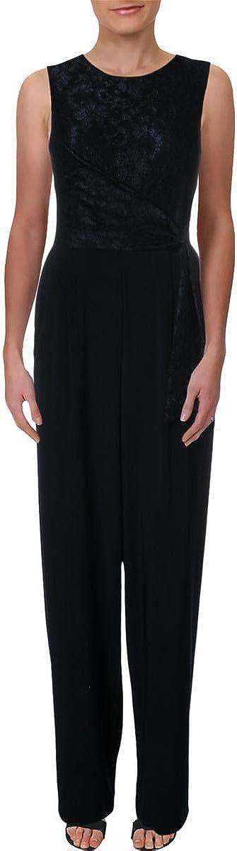 Ralph Lauren Womens Navy Ranking TOP12 Front Tie Le Popular standard Wide Jewel Sleeveless Neck
