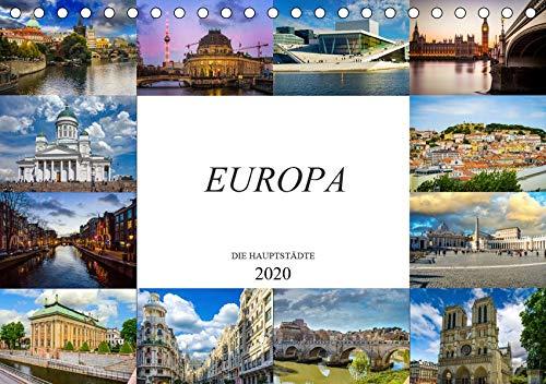 Europa Die Hauptstädte (Tischkalender 2020 DIN A5 quer): Zwölf wunderschöne Bilder der schönsten Städte Europas (Monatskalender, 14 Seiten ) (CALVENDO Orte)