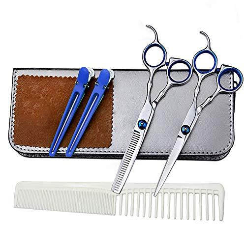 KAUTO Juego de Tijeras para el Cabello Tijeras de peluquería Profesional Juego de Herramientas de peluquería Acero Inoxidable para salón y Familia