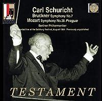 ブルックナー:交響曲第7番、モーツァルト:『プラハ』 シューリヒト&ベルリン・フィル(1964年ザルツブルク)(2CD)