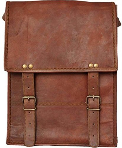 "Indiartvilla 13""Pure piel oficina hombro viaje hombre Laptop Messenger Bag"