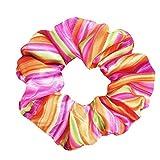 Bandas elásticas de goma para el pelo, para chicas y chicas, con gomas para el pelo de flores (varios colores) y con bolsa de regalo Rosa Talla única