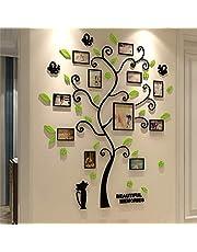 JINSUO GWTRY Forma 3D Album Árbol de la Etiqueta engomada acrílico de la Foto Etiqueta de la Pared for la decoración del árbol Pegatinas Decoración Cartel de la Pared for Colgar (Color : Light Green)