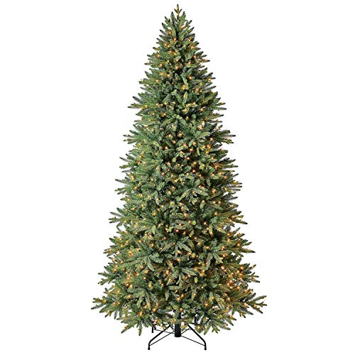 Evergreen Classics 9 ft Pre-Lit Colorado Spruce Quick Set Artificial Christmas Tree, Clear Lights