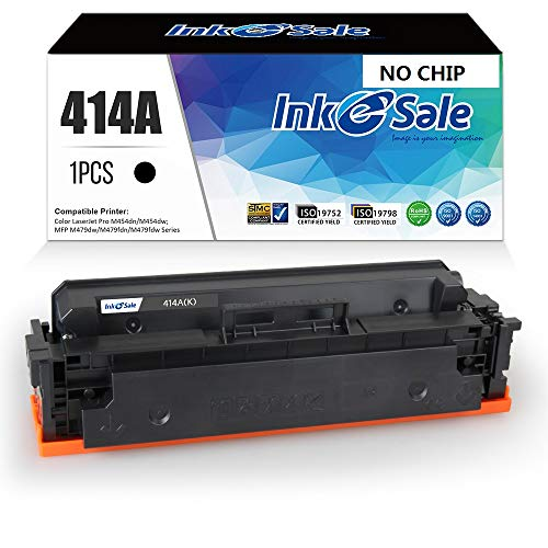 [NO CHIP] INK E-SALE Compatible Toner Cartridge Replacement for HP 414A M454dw M479fdw 414X Toner (Black 1-Pack) for HP Color Laserjet Pro M454dw M454 M454dn MFP M479fdw M479 M479fdn Printer Toner