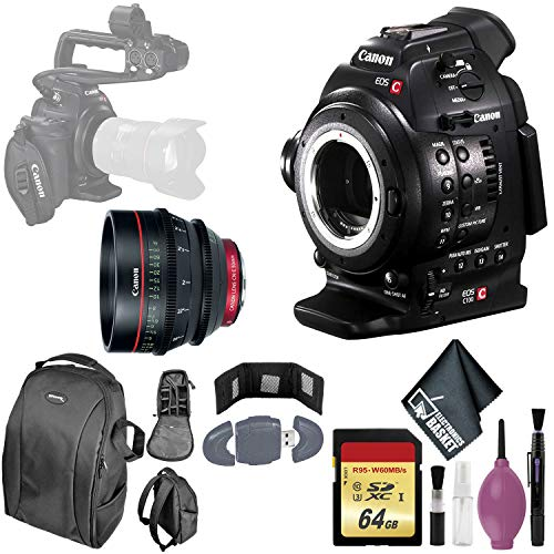 Lowest Prices! Canon EOS C100 Cinema EOS Camera with Dual Pixel CMOS AF - 64GB Memory Card - Card Wa...