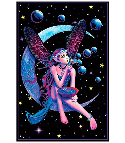 Opticz Fairy Dream Flocked Blacklight Poster 23 x 35in