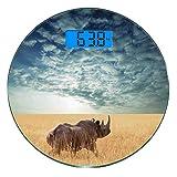 Escala digital de peso corporal de precisión Ronda Decoración Safari Báscula...