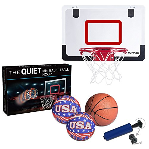 Iserlohn Mini Basketball Hoop, Over The Door Use - Include 2 Quiet...