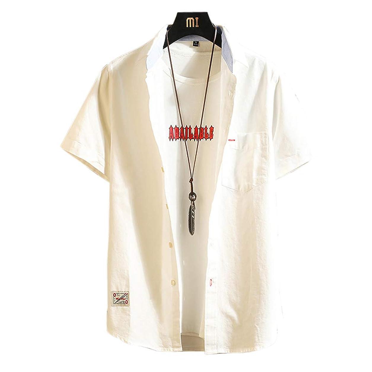餌ナサニエル区サイクロプスIKFSDFシャツ メンズ 半袖 夏 カジュアル ビジネス 大きい サイズ 無地 シャツ