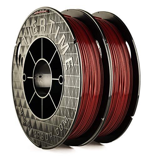 UP Fila Premium PLA 3D Printer Filament, Low Odor, Consistent 1.75mm Diameter,1KG (500g×2 Spools), Burgundy Red