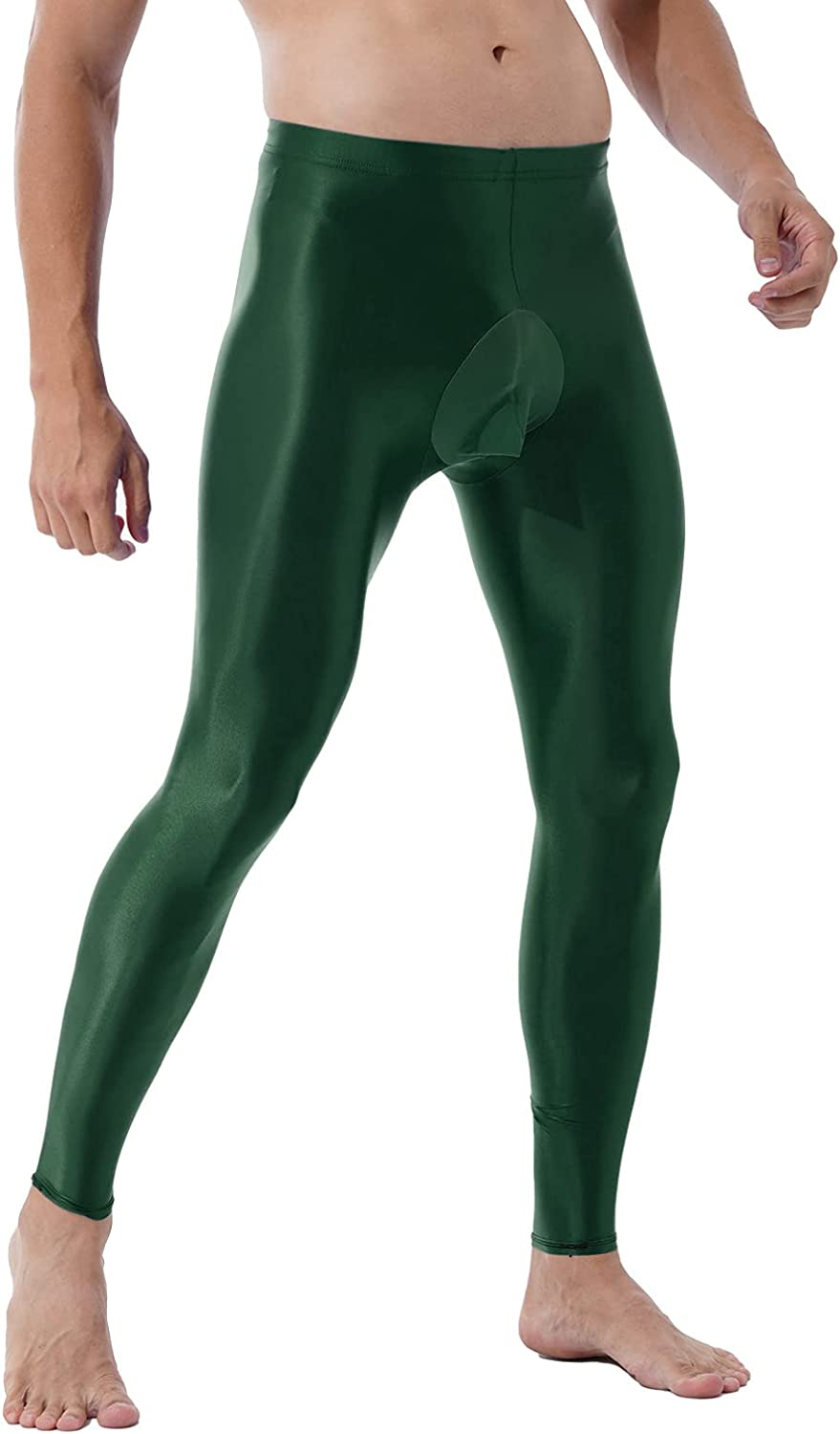 TiaoBug Mens Compression Long Pants Bulge Pouch Tights Trousers Seamless Underpants