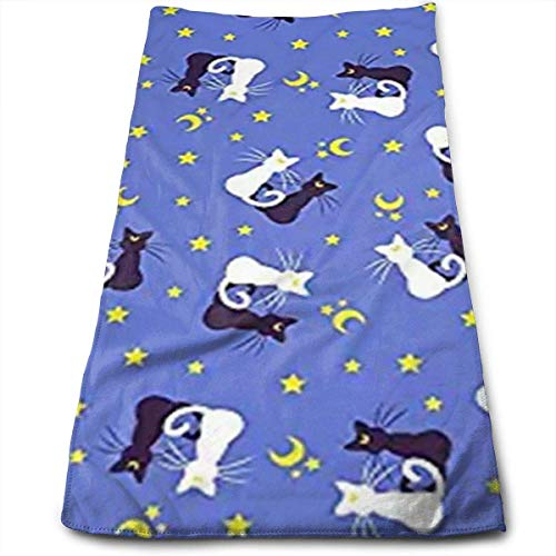 DAICHAI Toalla Moon Kitties Teeny Blue.webp Polyester