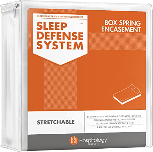 HOSPITOLOGY PRODUCTS Zippered Box Spring Encasement - Sleep Defense System - Twin –38' W x 75' L